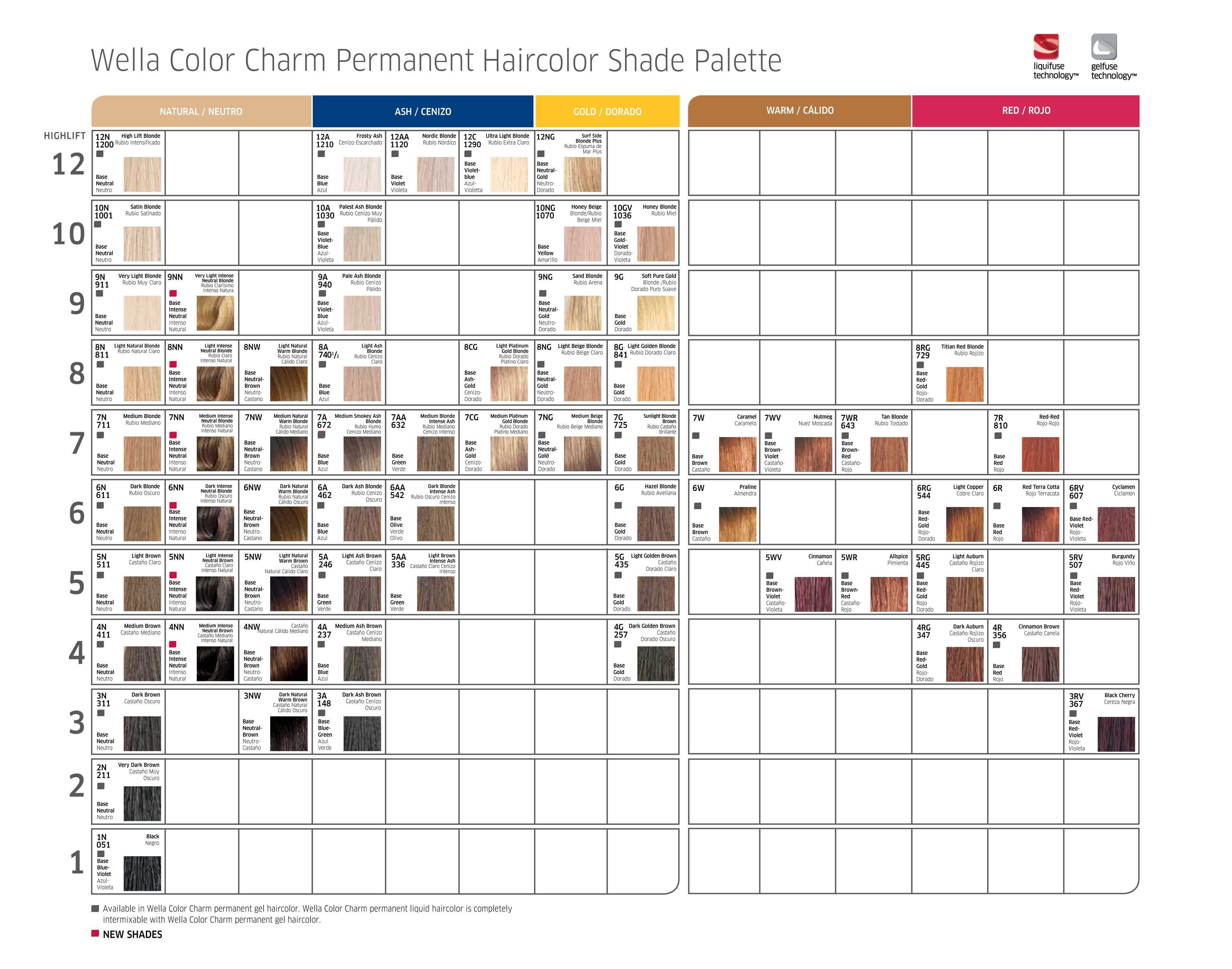 Wella Color Charm Swatch Book Offer Coloring Pages