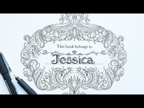Johanna Basford Tutorial How To Personalise Your Colouring Book