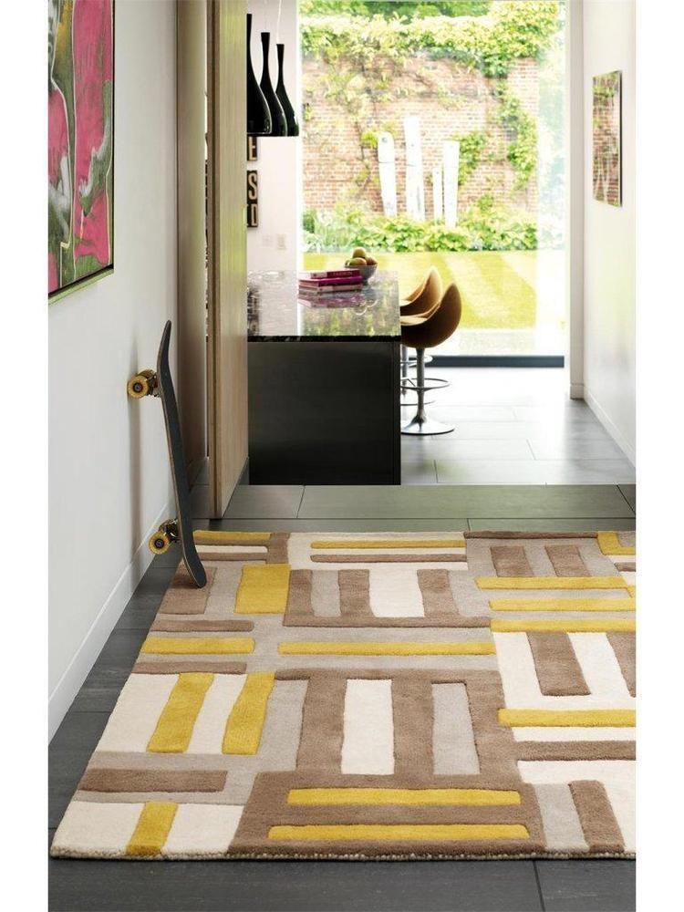 details zu teppich wohnzimmer carpet modern design matrix code