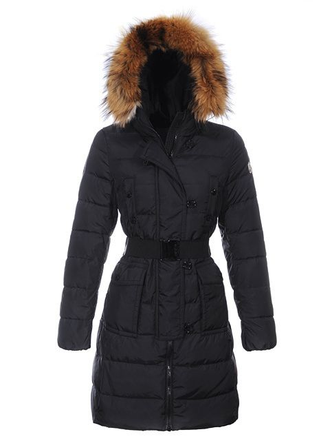 64da8dbac770 http   www.vougers.com moncler-down-coats-for-women-black-long-style-with- fur-cap-and-waistband-p-1107.html Moncler Down Coats For Women Black Long  Style ...