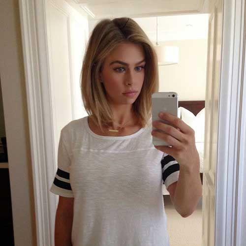 20 Best Short To Medium Length Haircuts Met Afbeeldingen Medium Kapsels Haarlengte Dunner Wordend Haar