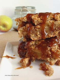 Paleo Caramel Apple Pie Bars ~ Clean Eating With A Dirty Mind