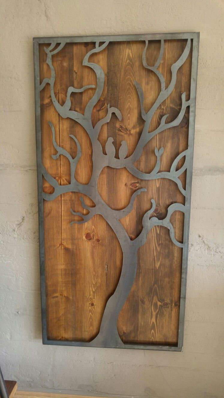 Metal Wood Wall Art Pinkayle Weather On Metal Tree Wall Art  Pinterest  Cnc