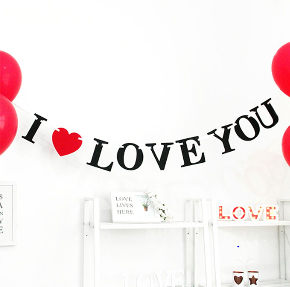Party Proposal I Love You Bunting Garlands Party Proposal Wedding Photo Props .