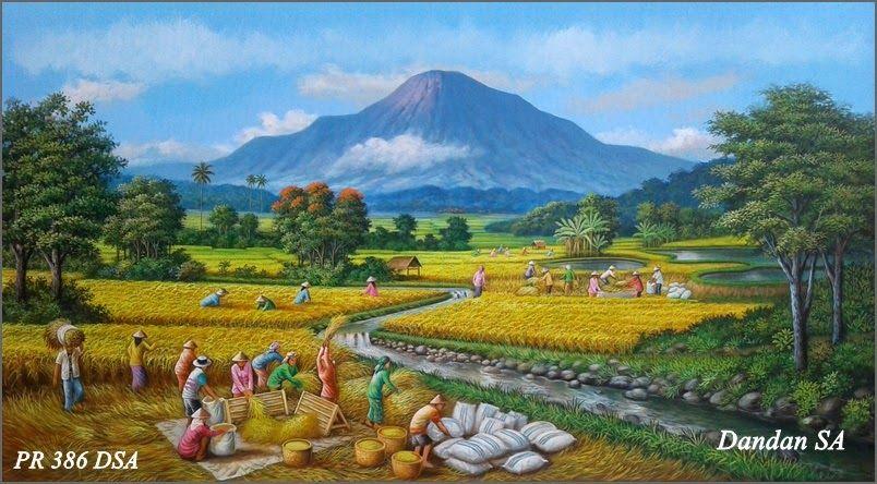 Gambar Pemandangan Petani Nyatanya Masih Banyak Lho Gambar Pemandangan Lain Yang Memiliki Nilai Estetika Yang Tinggi Kebanyakan Pemandangan Lanskap Lukisan