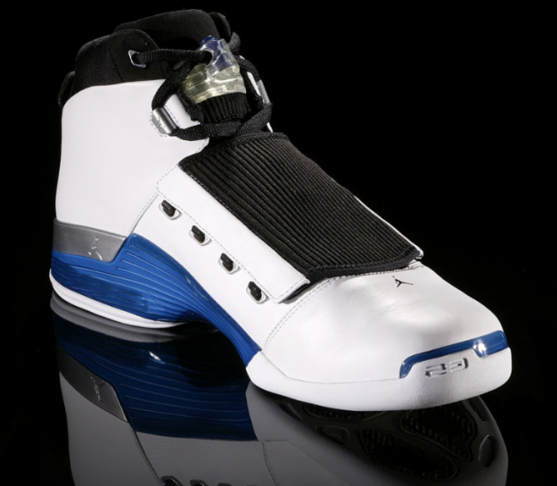 17afd11da956f5 Air Jordan 17 (XVII) Original (OG) - White   College Blue - Black -  KicksOnFire.com