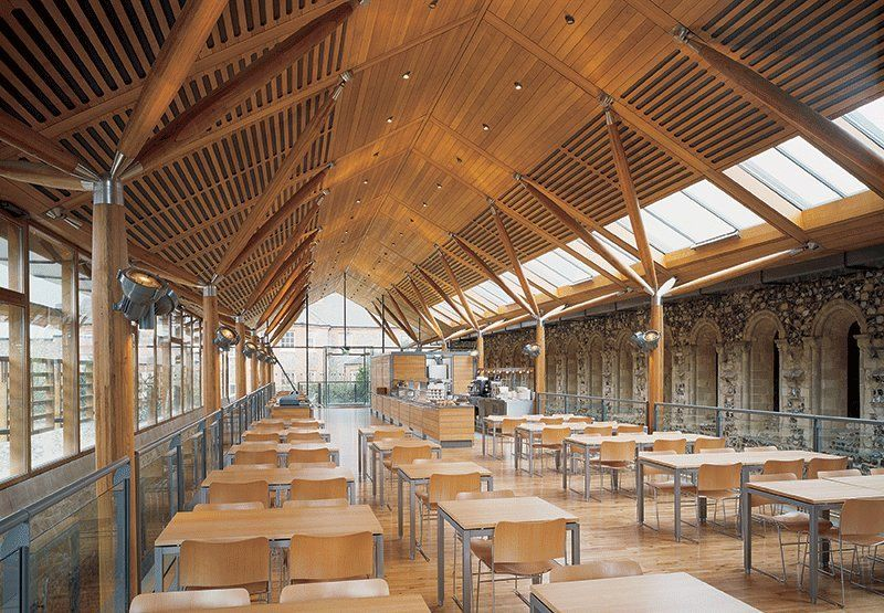 Norwich cathedral refectory hopkins architects norfolk for Architects norfolk