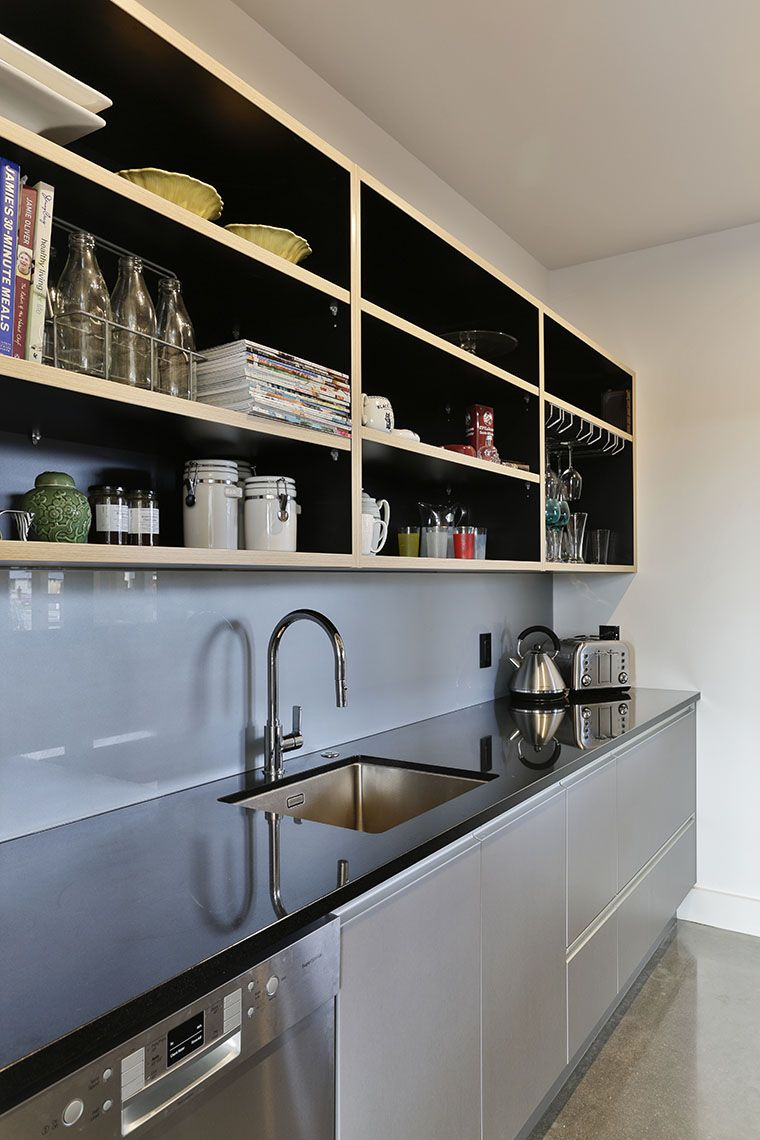 This long scullery runs the length of the kitchen it sits