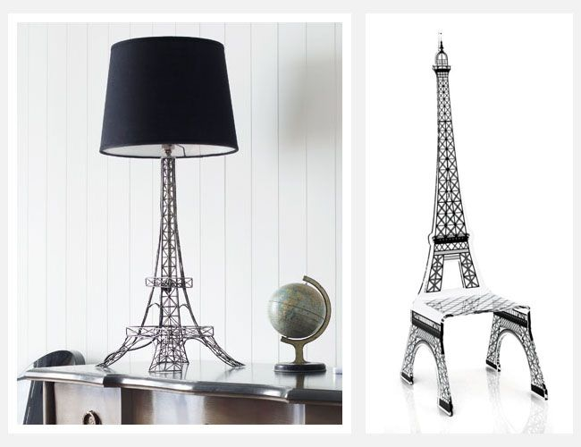 Eiffel Tower lamp is what I like.not the chair lol - Eiffel Tower Floor Lamp IFancy... Pinterest Floor Lamp