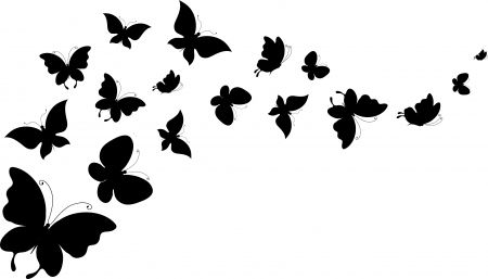 butterfly silhouette art silhoutte butterflies abstract black silhouette white 1192