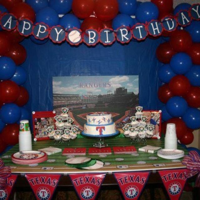Texas Rangers Birthday Party Christians Theme This Year