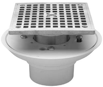 "Zurn Bathroom Sinks zurn zlc shower drain - 5"" square strainer 