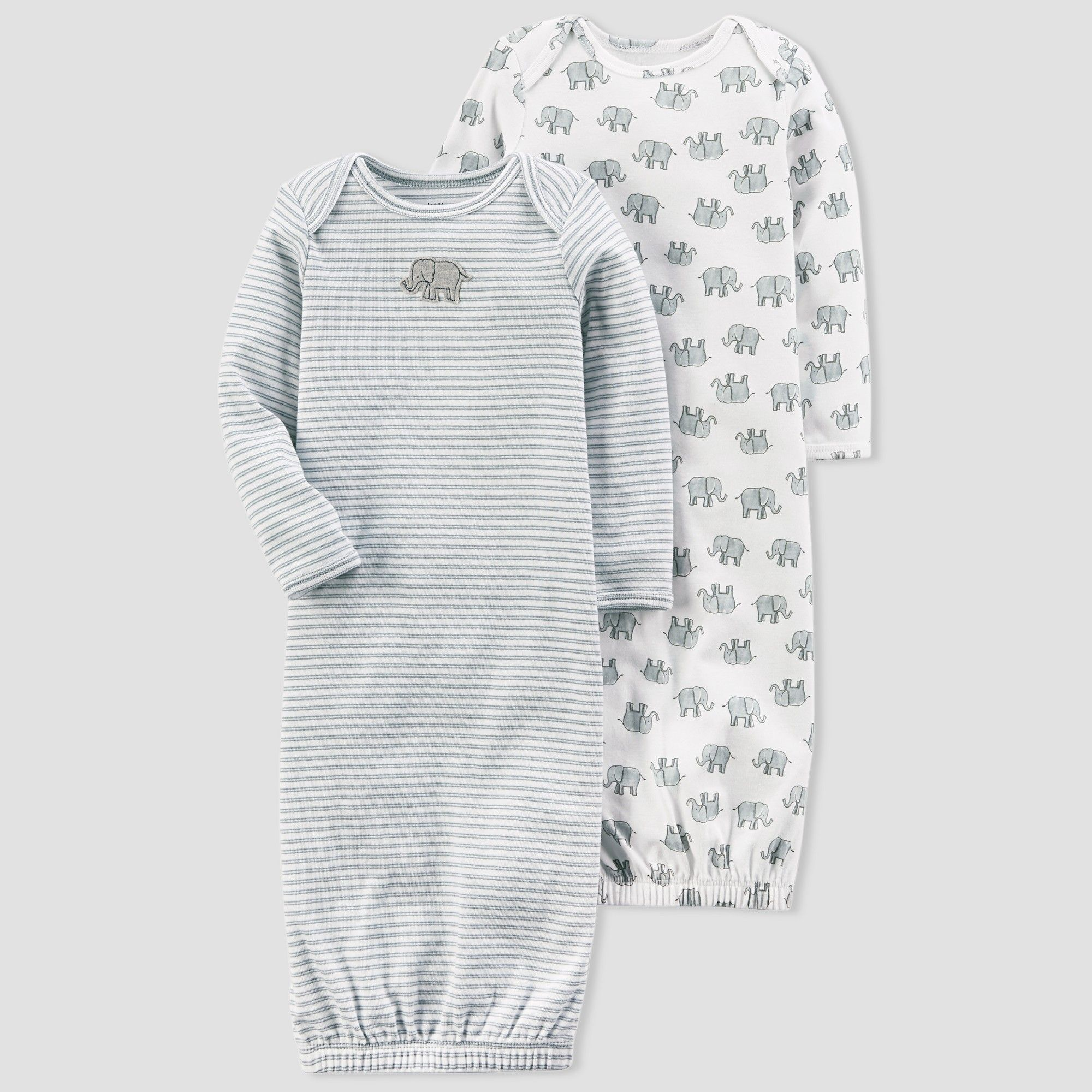 defbeee442ef Baby 2pk Elephant Gown Set - little planet organic by carter s Gray ...