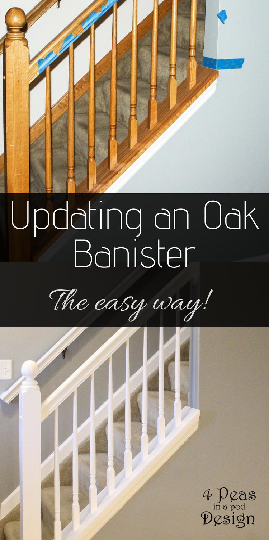 Best Diy Oak Banister Re Vamping An Oak Banister The Easy Way 400 x 300