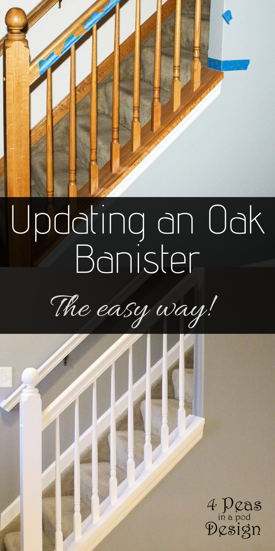 Diy Oak Banister Re Vamping An Oak Banister The Easy Way Home