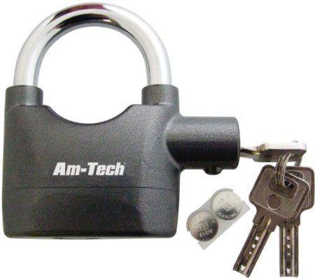 Am-Tech Heavy Duty Alarm Padlock: Amazon.co.uk: Garden & Outdoors