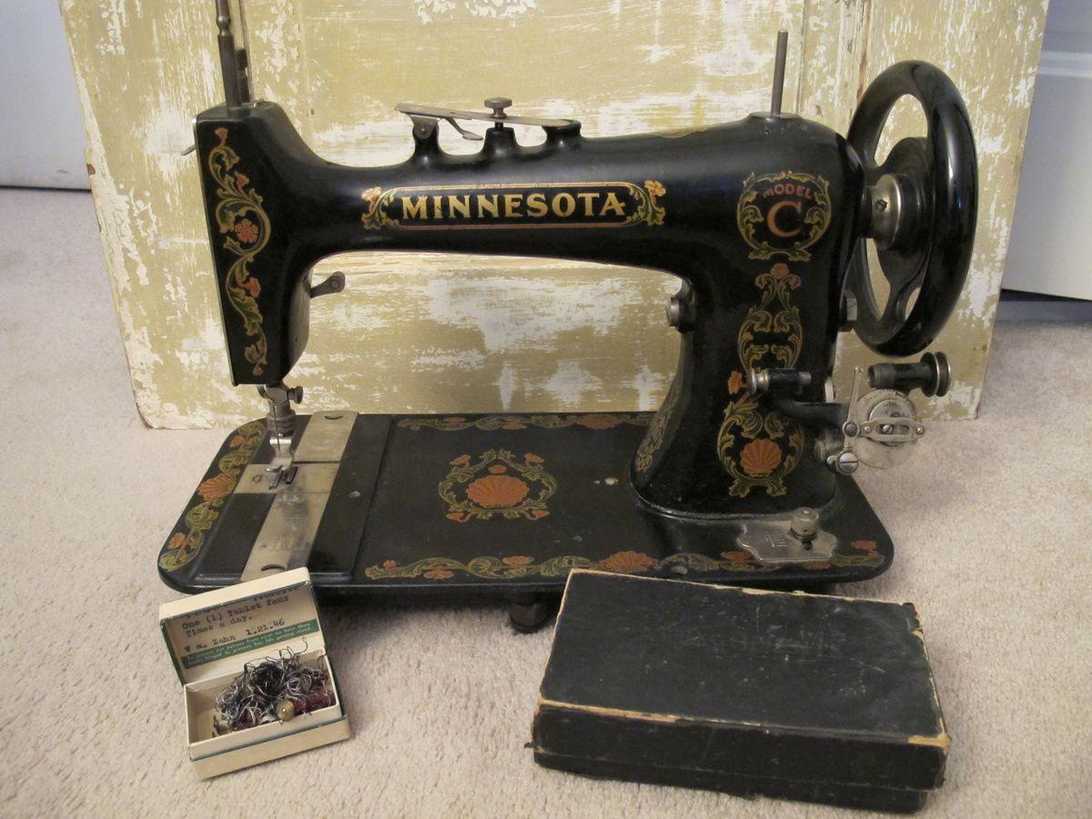 Minnesota Model C Sewing Machine Machines Then Now Necchi Bu Threading Diagram