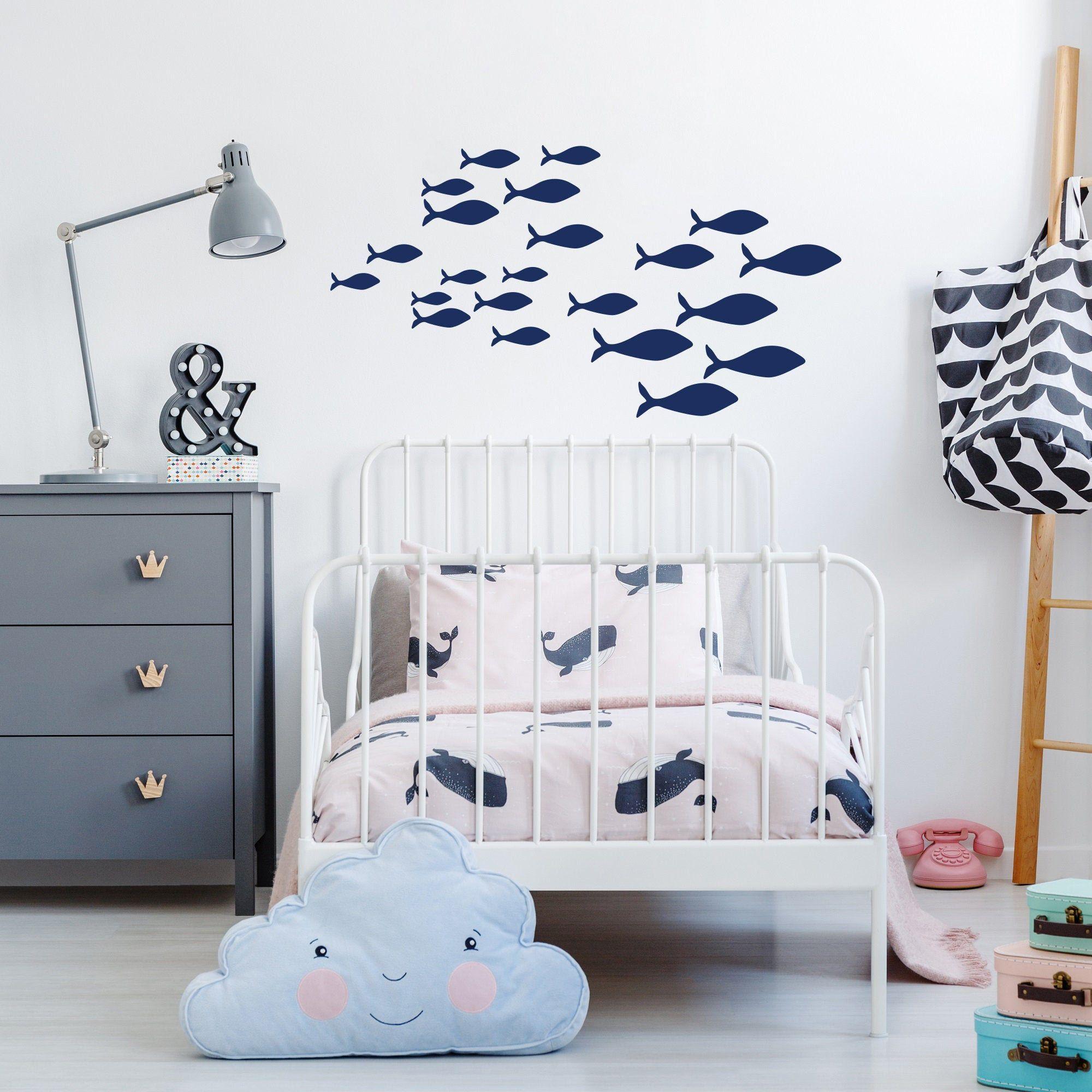 School Of Fish Decal Nursery Wall Decal School Of Fish Wall Etsy Fish Wall Decor Nursery Wall Decals Baby Room Decor