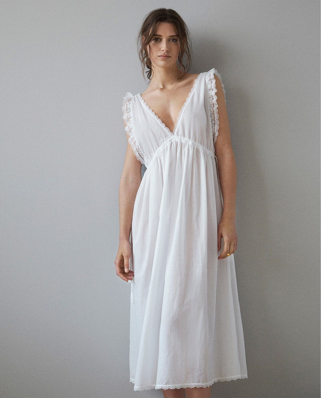 7acf89820168c Empire waist nightgown in 2019   : shopping list   Night gown, Zara ...