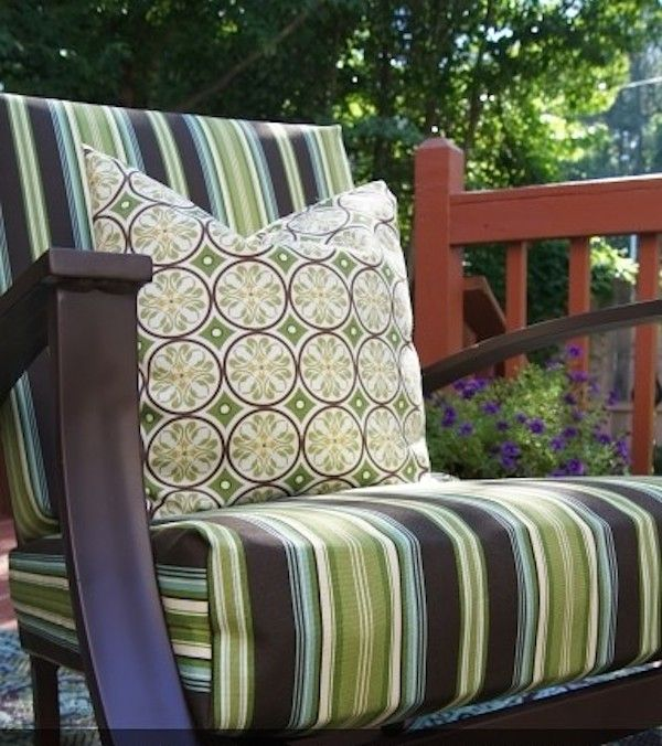 Decorate Your Patio With These Easy, No Sew Outdoor Chair Cushions.