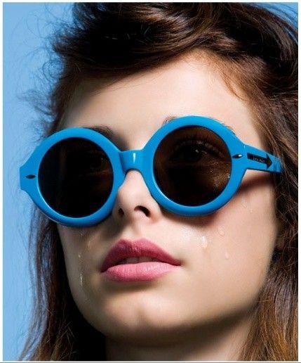 colorful eyewear frames:  Karen Walker