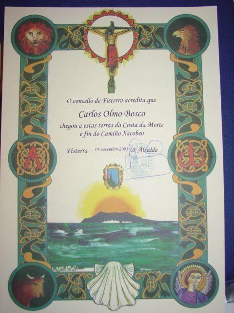Esta Es La Finisterrana El Certificado Que Acredita Que Caminé La Distancia Entre Santiago De Compostela Y Finisterre Ade Camino De Santiago Santiago Galicia