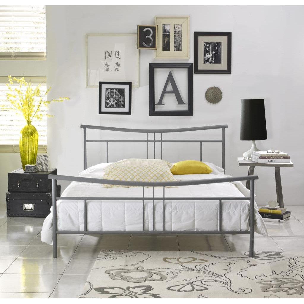 Best Luxury Home Cora Metal Bed Metal Platform Bed Bed Frame 400 x 300