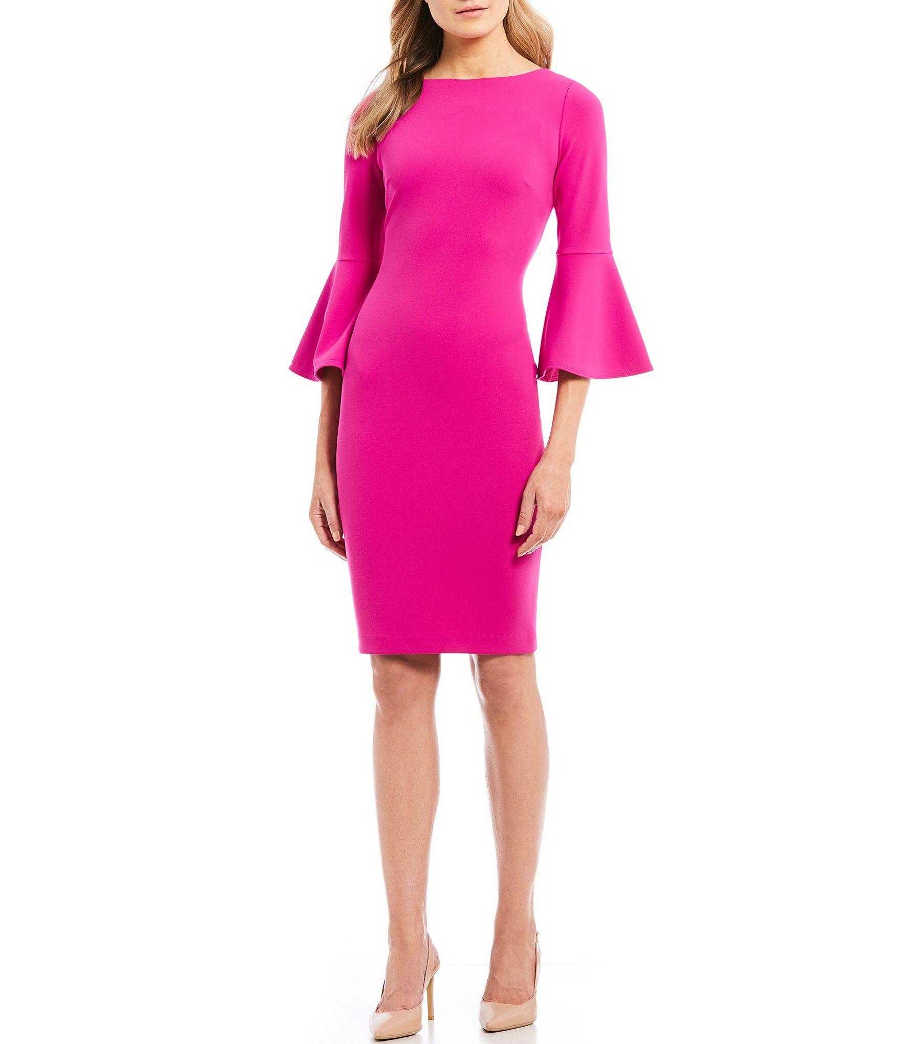 13++ Calvin klein bell sleeve dress blush inspirations