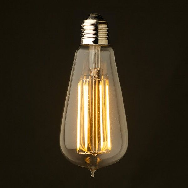 6 Watt Dimmable Lantern Filament LED E26 Clear Edison 1