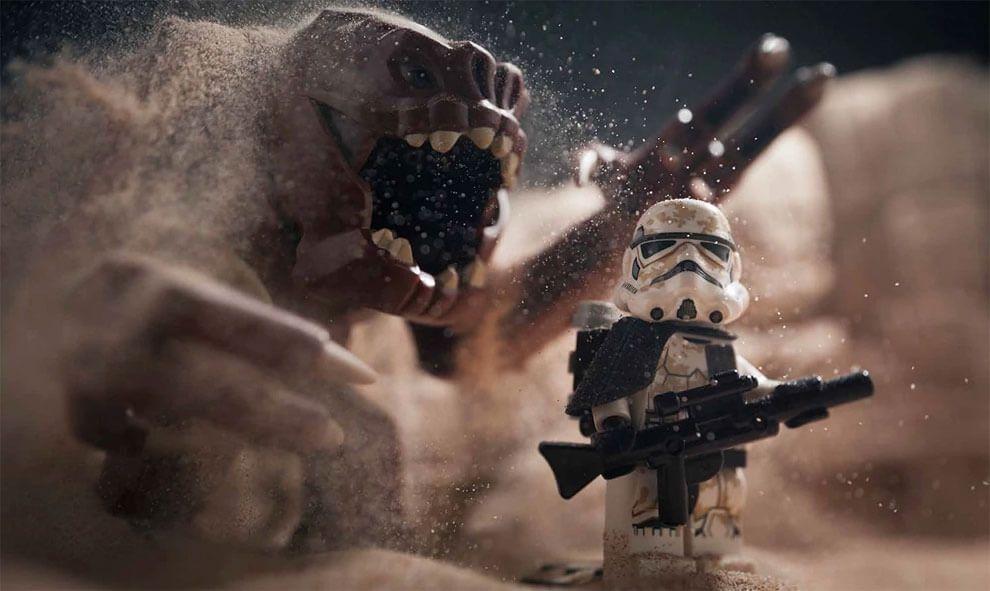 Cenas de Star Wars são recriadas com LEGO e o resultado final impressiona…