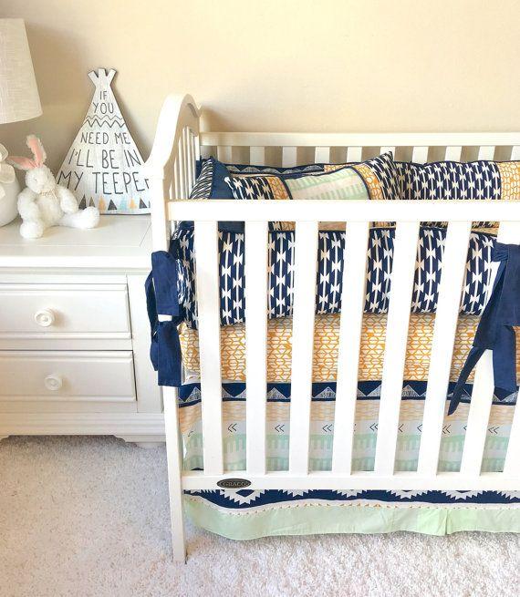 Bedding Sets For Baby Boys Gold Aztec Crib Set Custom Baby