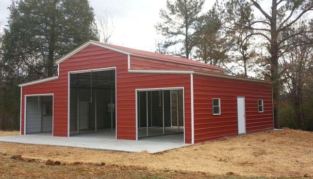 42x36 Vertical Roof Barn Steel Raised Center Barn Frame Metal Barn Building A Shed Steel Buildings