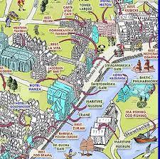 Bilderesultat For City Map Gdansk