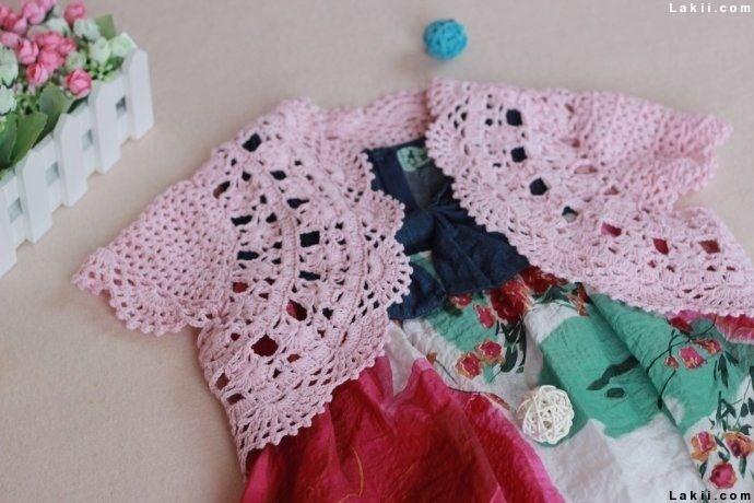 بوليرو كروشيه روعة مع خطوات العمل والباترون Crochet Crochet Baby Dress Crochet Bolero Pattern