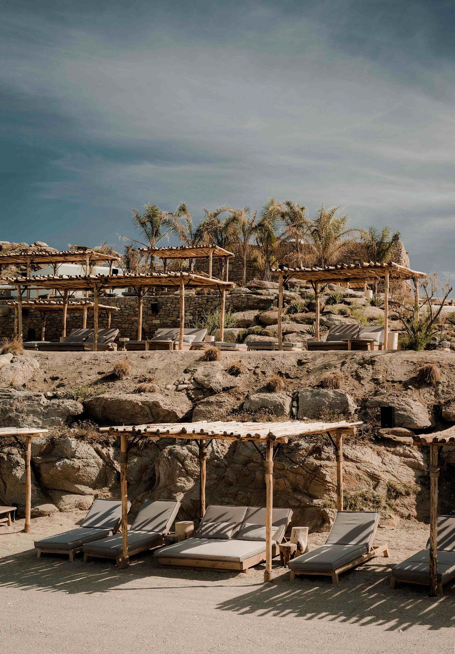 Relaxing beachfront oasis with a Boho vibe: Scorpios Mykonos | Pinterest