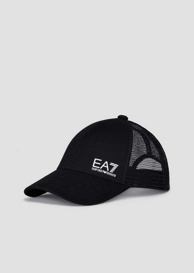 43fcc6cf Emporio Armani Ea7 Baseball Cap With Mesh And Logo in 2019 ...