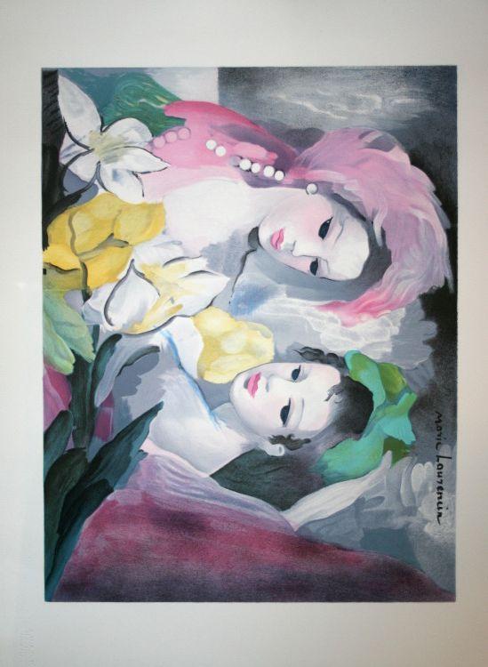 Marie Laurencin Lithographie Les Belles Aux Magnolias Les