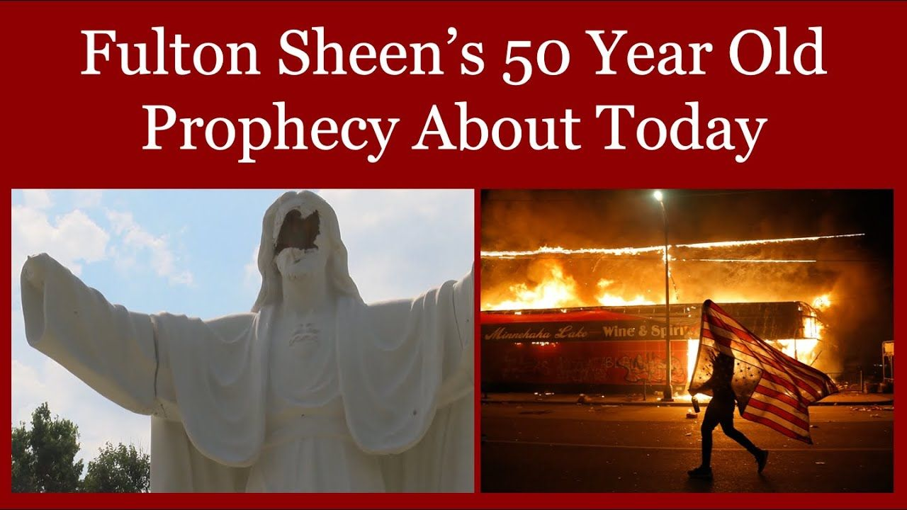 Fulton Sheen S 50 Year Old Prophecy About Today Youtube In 2020 Fulton Sheen Bible Meditations Catholic Saints Prayers