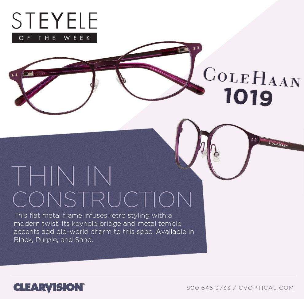 StEYELe of the Week: Cole Haan 1019 - Thin in Construction! | Cole ...