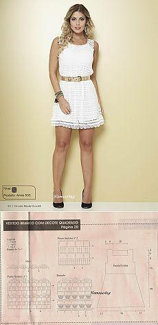 Белое платье крючком из Бразилии