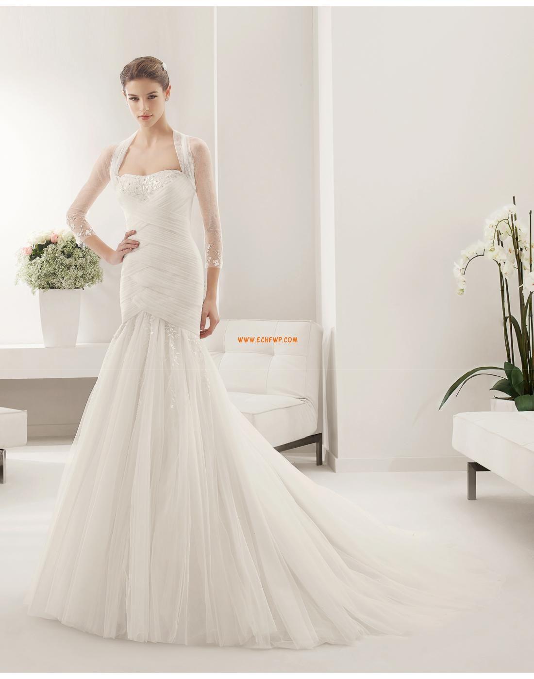 Robes de mariées avec boléros Sans manches Empire Robes de mariée ...