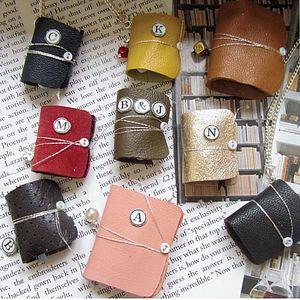 Mini Leather Charm Book Message Keepsake Gift