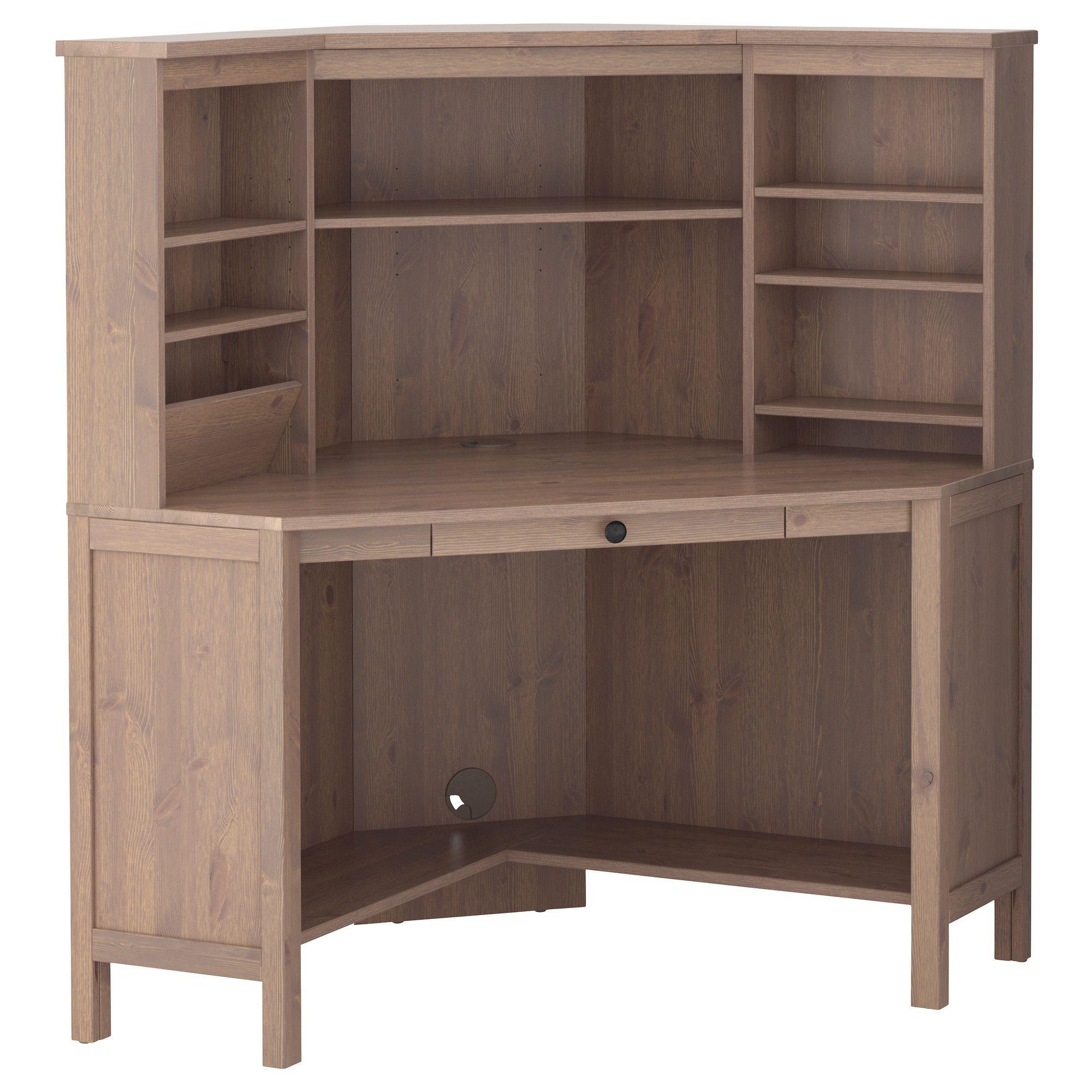 Eckschreibtisch ikea hemnes  HEMNES Eckarbeitsplatz - graubraun - IKEA | Home | Pinterest ...