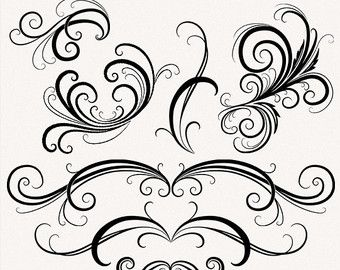 wedding digital clipart flourish swirl by maypldigitalart on etsy rh pinterest com clipart flourishes and swirls free free clip art flourishes and swirls