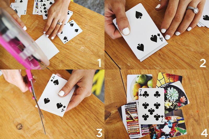 Diy Photo Playing Cards A Beautiful Mess Photo Playing Cards Playing Card Crafts Diy Playing Cards