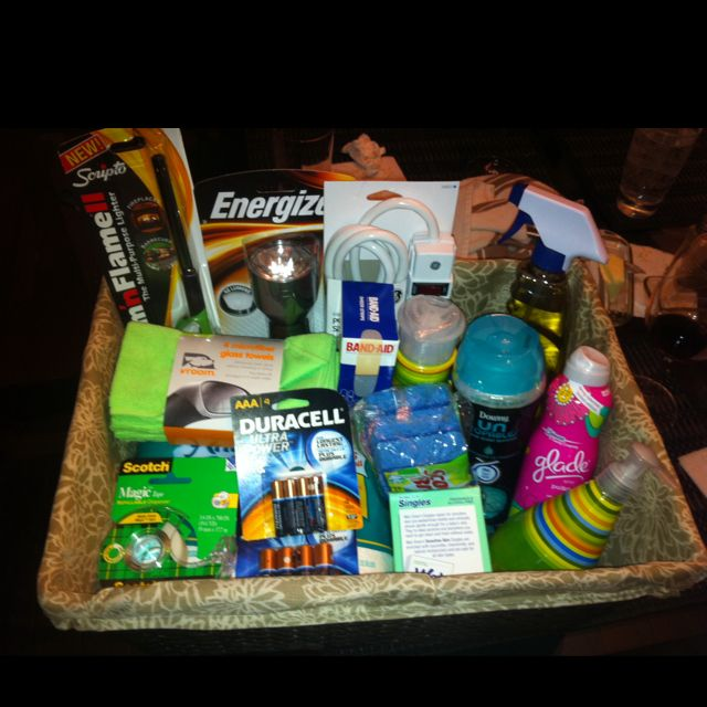 New Home Gift Basket Ideas: DIY Housewarming Gift. All Items Purchased At Target