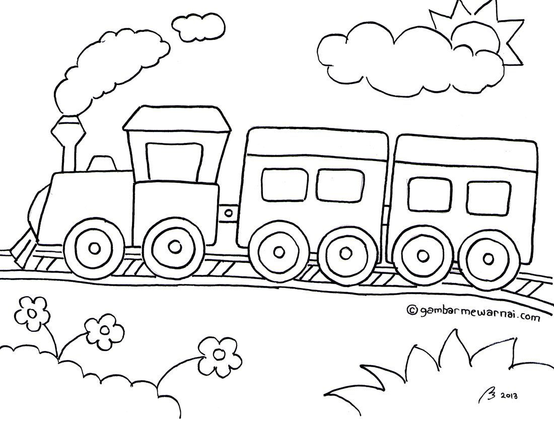 Gambar Mewarnai Kereta Api Projects To Try Coloring Train Coloring Pages Drawing For Kids Art Drawings For Kids