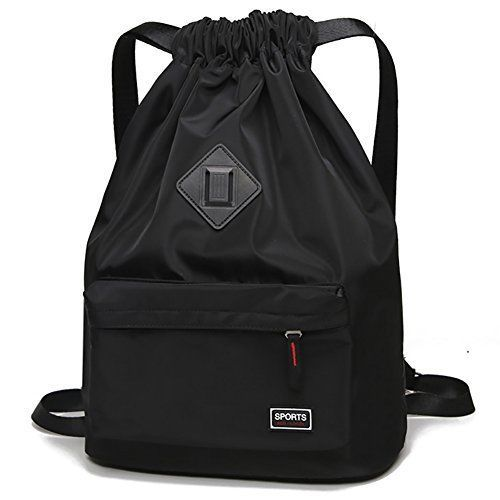 65875603b7 Peicees Waterproof Drawstring Sport Bag Lightweight Sackpack Backpack  (Black)  fashion  clothing  shoes  accessories  unisexclothingshoesaccs ...