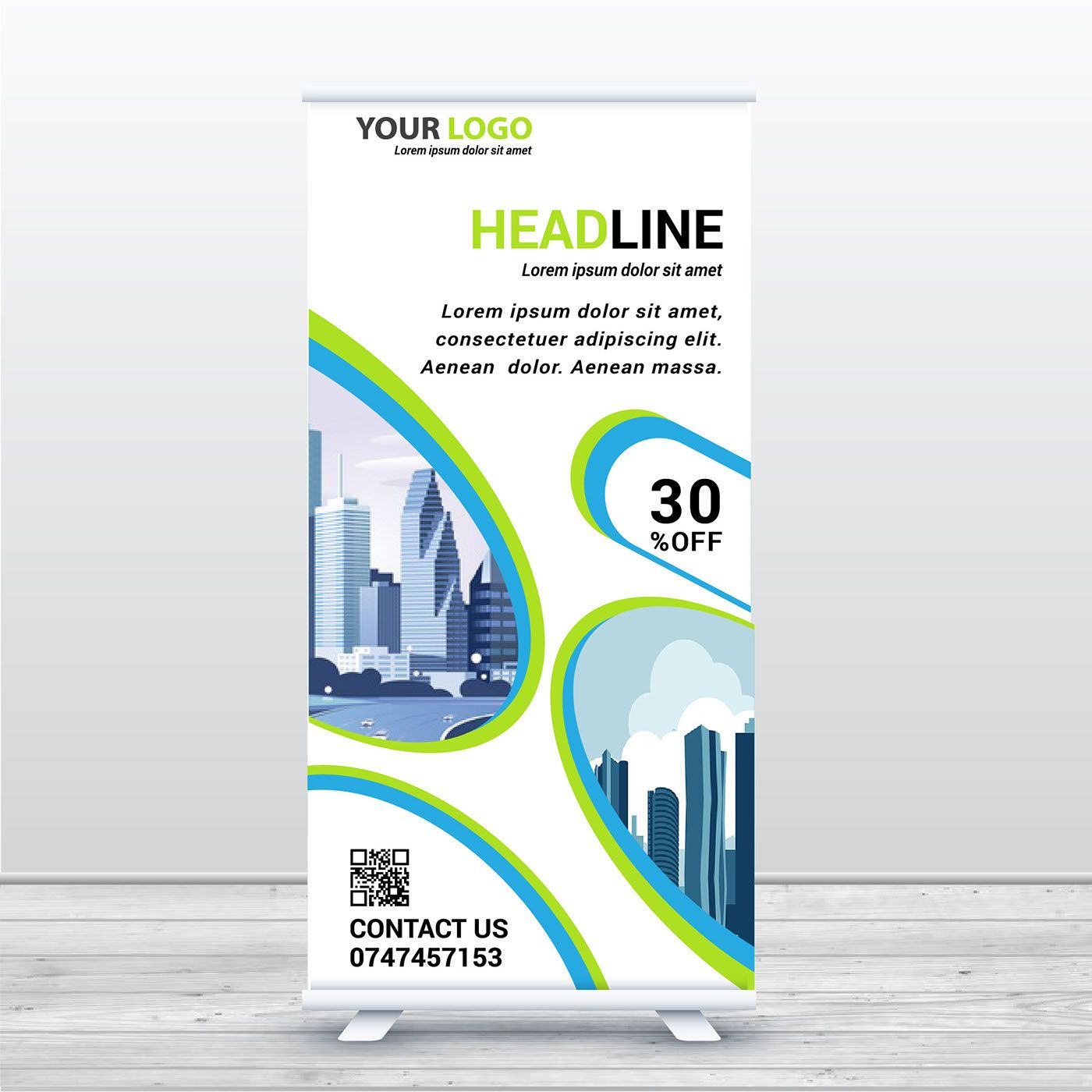 check out my behance project roll up banner https