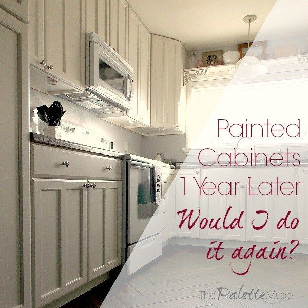 Repainting Oak Kitchen Cabinets: Painted Kitchen Cabinets One Year Later